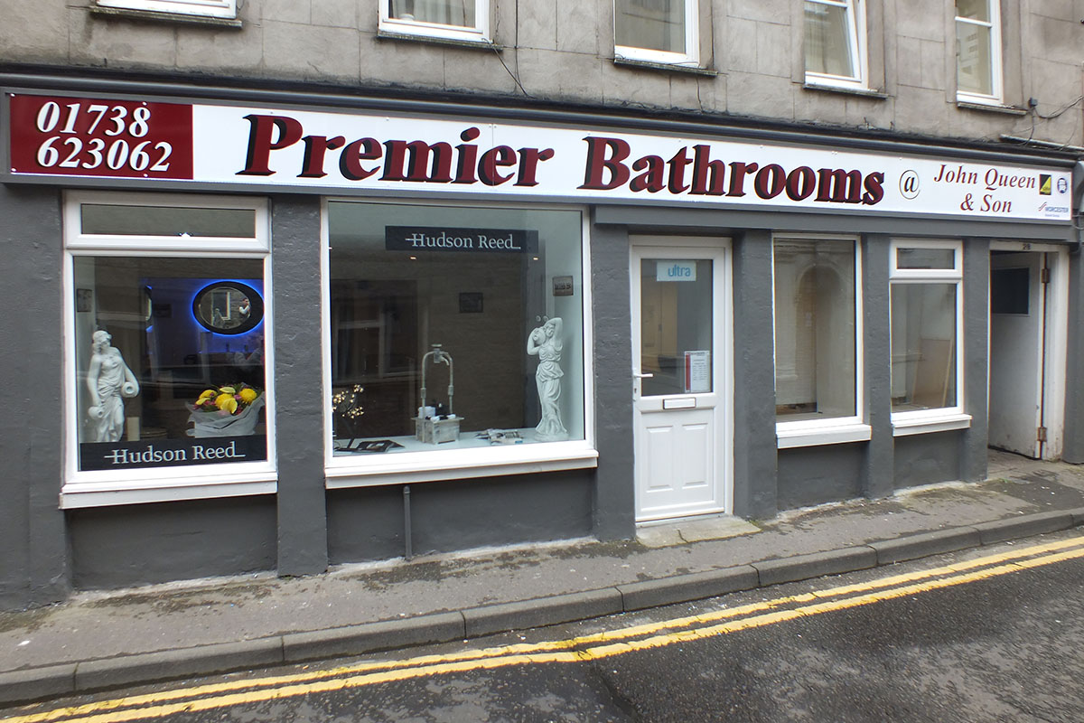 Premier Bathrooms Perth showroom on Watergate